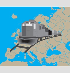 Train in europe vector