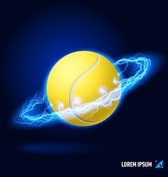Tennis high voltage vector image