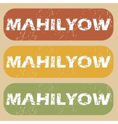 Vintage mahilyow stamp set vector