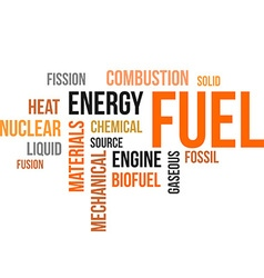 Word cloud fuel vector