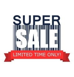 Super sale on barcode icon vector