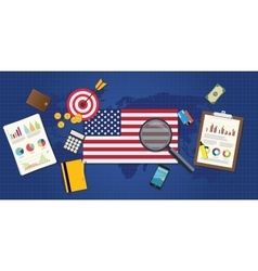 America economy economic rising vector