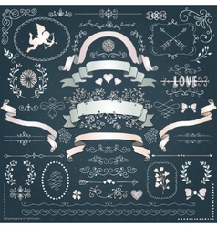 White paper decorative floral design vector