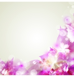 Abstract floral colorful background in pink vector image vector image