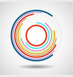 Abstract technology circles geometric logo vector