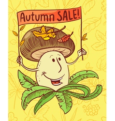 Autumn sale shopping background vector image vector image