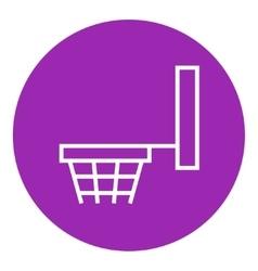 Basketball hoop line icon vector