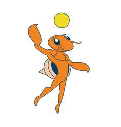 Beach volley hermit crab vector