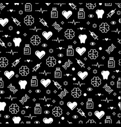 black and white medicinal seamless pattern design vector image vector image