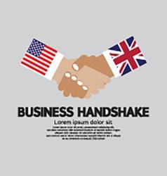 Business Handshake USA and UK vector image vector image