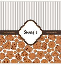 Card with sweet cookies vector image