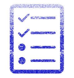 Checklist page grunge textured icon vector