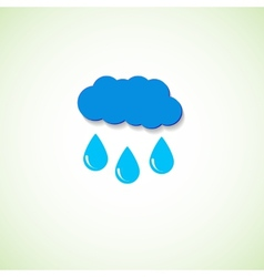 Cloud and raindrops eps vector