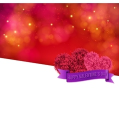 Colorful Valentines Day Card template vector image vector image