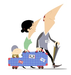 Family travel vector image