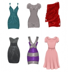 female dresses vector image vector image