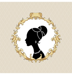 Frame barocco portrait vector image vector image