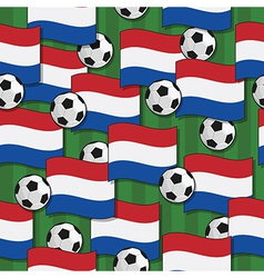 holland football pattern vector image vector image