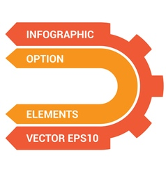 Infographic option elements vector image vector image