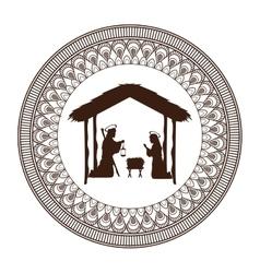 joseph mary holy family christmas design vector image vector image