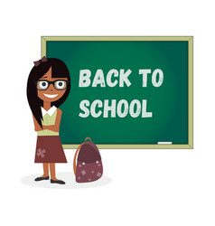 kids template girl back to school vector image vector image