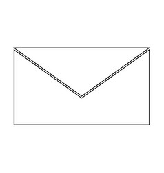 mail the black color icon vector image