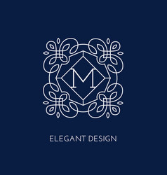 Monogram design template vector
