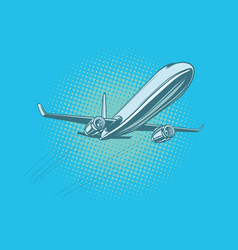 Passenger plane in the sky vector