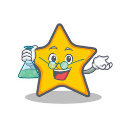 Professor star character cartoon style vector