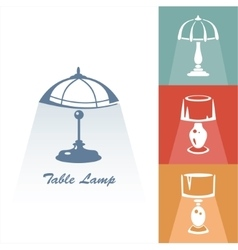 Reading-lamp vector
