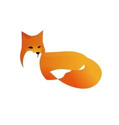 Red fox in style vector