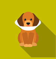 Sick dog icon in flat style for web vector