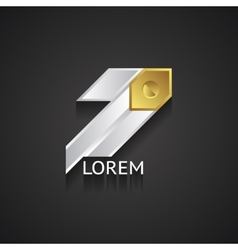 Silver and Gold Business Logo vector image