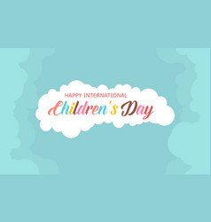Style background children day collection vector