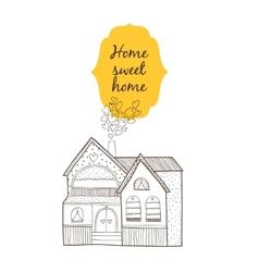 Sweet home card vector