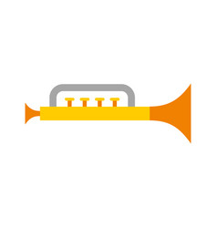 trumpet toy isolated icon vector image