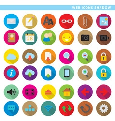 Web icons shadow low vector