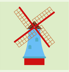 Windmill tourism travel design famous building and vector
