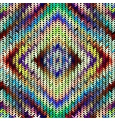 Multicolor knitted pattern vector image