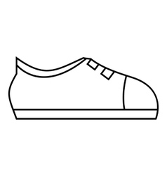 Sport sneakers icon outline style vector