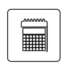 monochrome contour square with calendar icon vector image
