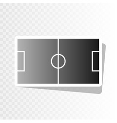 Soccer field  new year blackish icon on vector