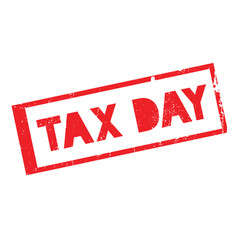 tax day rubber stamp vector image