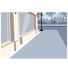 City sidewalk scene vector