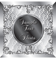Wedding silver background vector