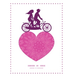 Pink abstract flowers texture couple on tandem vector