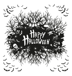 abstract inscription Happy Halloween vector image