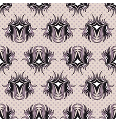 Seamless pattern the black and violet tracery vector