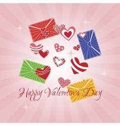 Greeting card happy valentine s day vector