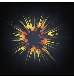 Explode Flash Cartoon Explosion vector image